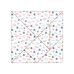 Cute Flamingos And  Leaves Pattern Acrylic Tangram Puzzle (4  x 4 )
