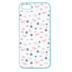 Cute Flamingos And  Leaves Pattern Apple Seamless iPhone 5 Case (Color)