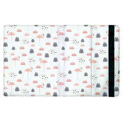 Cute Flamingos And  Leaves Pattern Apple iPad 2 Flip Case