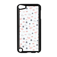 Cute Flamingos And  Leaves Pattern Apple iPod Touch 5 Case (Black)