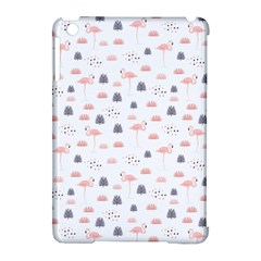Cute Flamingos And  Leaves Pattern Apple iPad Mini Hardshell Case (Compatible with Smart Cover)