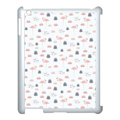 Cute Flamingos And  Leaves Pattern Apple iPad 3/4 Case (White)