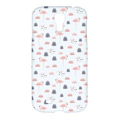 Cute Flamingos And  Leaves Pattern Samsung Galaxy S4 I9500/I9505 Hardshell Case