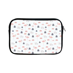 Cute Flamingos And  Leaves Pattern Apple iPad Mini Zipper Cases