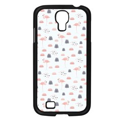 Cute Flamingos And  Leaves Pattern Samsung Galaxy S4 I9500/ I9505 Case (Black)