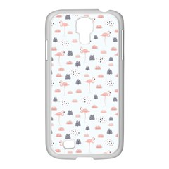 Cute Flamingos And  Leaves Pattern Samsung GALAXY S4 I9500/ I9505 Case (White)