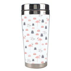 Cute Flamingos And  Leaves Pattern Stainless Steel Travel Tumblers