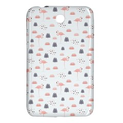 Cute Flamingos And  Leaves Pattern Samsung Galaxy Tab 3 (7 ) P3200 Hardshell Case