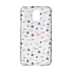 Cute Flamingos And  Leaves Pattern Samsung Galaxy S5 Hardshell Case