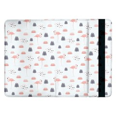 Cute Flamingos And  Leaves Pattern Samsung Galaxy Tab Pro 12.2  Flip Case