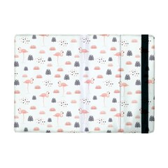 Cute Flamingos And  Leaves Pattern iPad Mini 2 Flip Cases