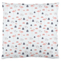 Cute Flamingos And  Leaves Pattern Large Flano Cushion Case (Two Sides)