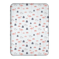 Cute Flamingos And  Leaves Pattern Samsung Galaxy Tab 4 (10.1 ) Hardshell Case