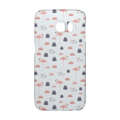 Cute Flamingos And  Leaves Pattern Galaxy S6 Edge