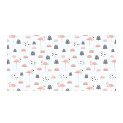 Cute Flamingos And  Leaves Pattern Satin Wrap