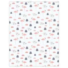 Cute Flamingos And  Leaves Pattern Drawstring Bag (Large)