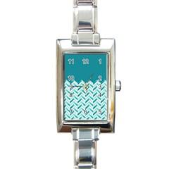 Zigzag pattern in blue tones Rectangle Italian Charm Watch