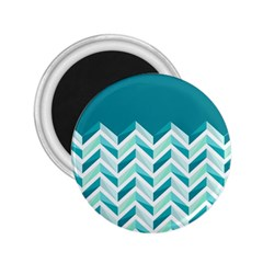 Zigzag pattern in blue tones 2.25  Magnets