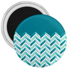 Zigzag pattern in blue tones 3  Magnets