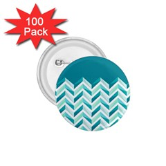 Zigzag pattern in blue tones 1.75  Buttons (100 pack)