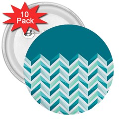 Zigzag pattern in blue tones 3  Buttons (10 pack)