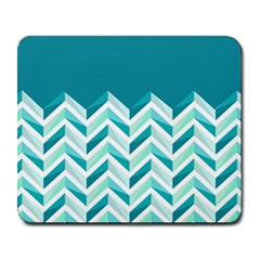 Zigzag pattern in blue tones Large Mousepads