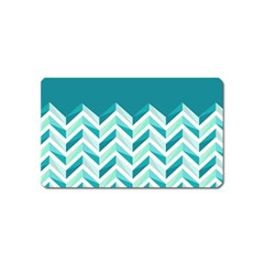 Zigzag pattern in blue tones Magnet (Name Card)