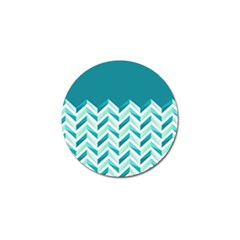 Zigzag pattern in blue tones Golf Ball Marker (10 pack)