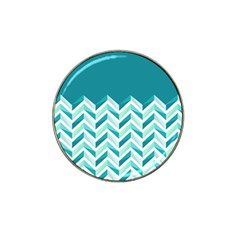 Zigzag pattern in blue tones Hat Clip Ball Marker (4 pack)
