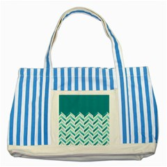 Zigzag pattern in blue tones Striped Blue Tote Bag