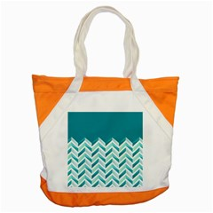 Zigzag pattern in blue tones Accent Tote Bag
