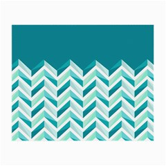 Zigzag pattern in blue tones Small Glasses Cloth (2-Side)
