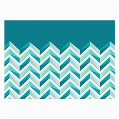 Zigzag pattern in blue tones Large Glasses Cloth (2-Side)
