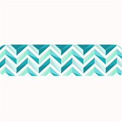 Zigzag pattern in blue tones Large Bar Mats