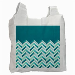 Zigzag pattern in blue tones Recycle Bag (Two Side)