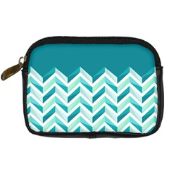 Zigzag pattern in blue tones Digital Camera Cases