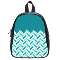Zigzag pattern in blue tones School Bags (Small)