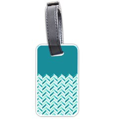 Zigzag pattern in blue tones Luggage Tags (One Side)