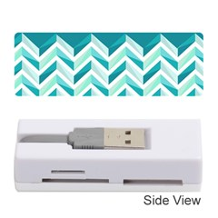 Zigzag pattern in blue tones Memory Card Reader (Stick)