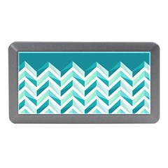Zigzag pattern in blue tones Memory Card Reader (Mini)