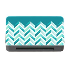 Zigzag pattern in blue tones Memory Card Reader with CF