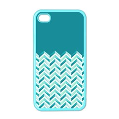 Zigzag pattern in blue tones Apple iPhone 4 Case (Color)