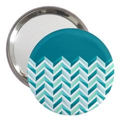 Zigzag pattern in blue tones 3  Handbag Mirrors