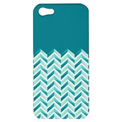 Zigzag pattern in blue tones Apple iPhone 5 Hardshell Case