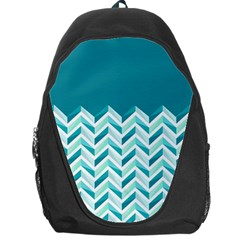 Zigzag pattern in blue tones Backpack Bag