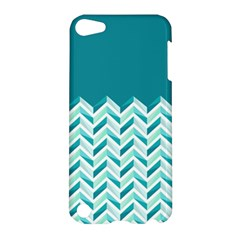Zigzag pattern in blue tones Apple iPod Touch 5 Hardshell Case