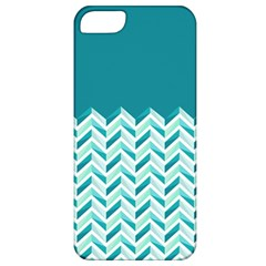 Zigzag pattern in blue tones Apple iPhone 5 Classic Hardshell Case