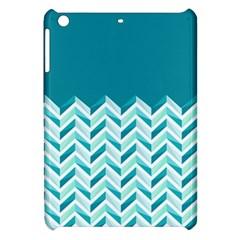Zigzag pattern in blue tones Apple iPad Mini Hardshell Case