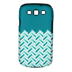 Zigzag pattern in blue tones Samsung Galaxy S III Classic Hardshell Case (PC+Silicone)