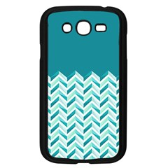 Zigzag pattern in blue tones Samsung Galaxy Grand DUOS I9082 Case (Black)